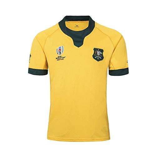 Pilang American Football Sportkleidung, Australian-Team Rugby World Cup, lässiges T-Shirt Kleidung (Color : Yellow, Size : XL)