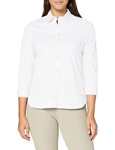 BRAX Damen Style Victoria Hemdkragen Klassisch Bluse, Weiß, 44