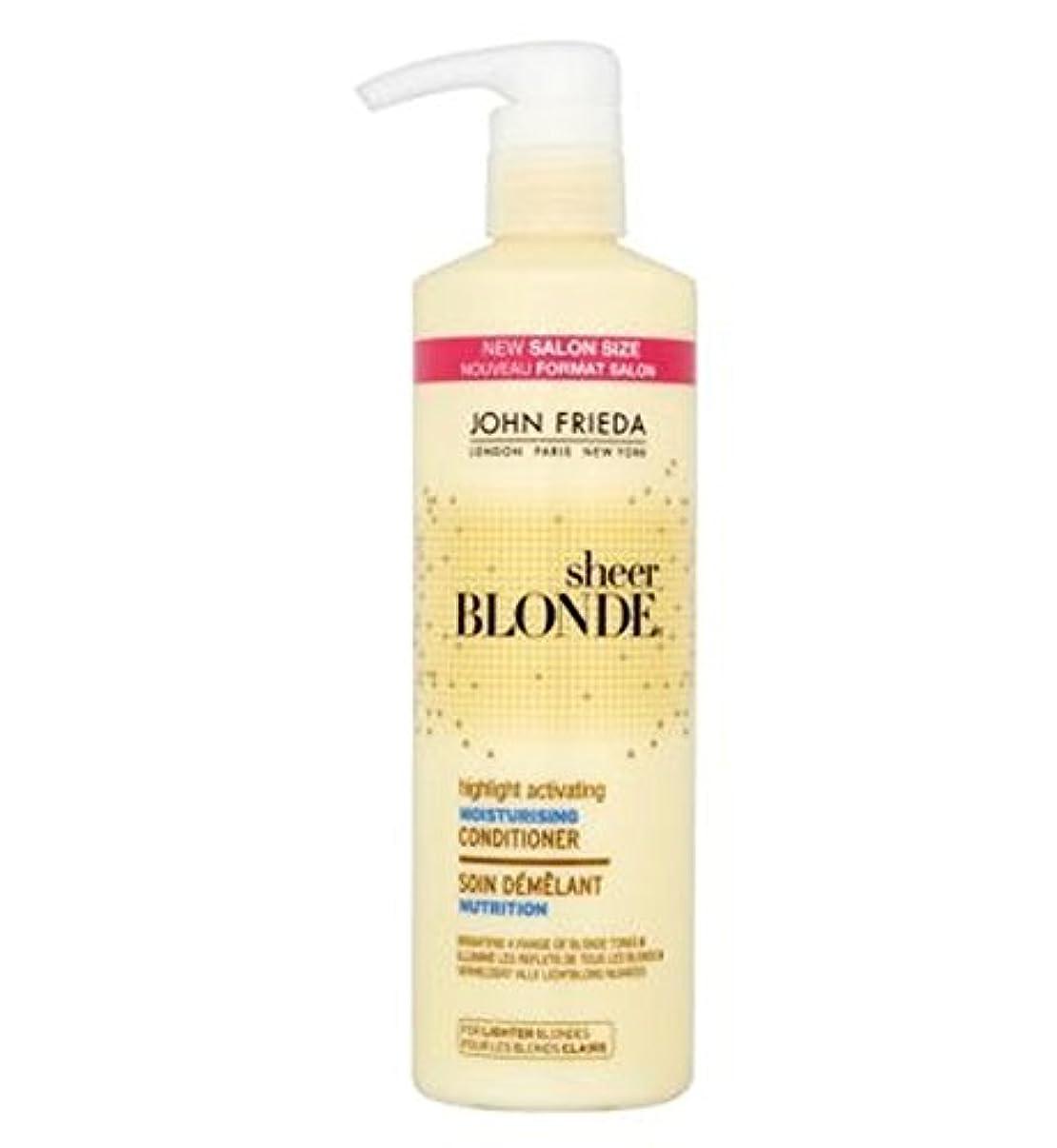 他の日剥離不可能なジョン?フリーダ薄手のブロンドのハイライト活性化保湿コンディショナー500ミリリットル (John Frieda) (x2) - John Frieda Sheer Blonde Highlight Activating Moisturising Conditioner 500ml (Pack of 2) [並行輸入品]