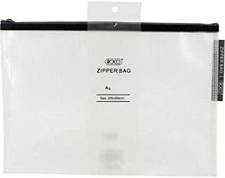 Roco RQ-FB8068BLK A4 Topload Opening Document Pouch, Clear-Black Accent