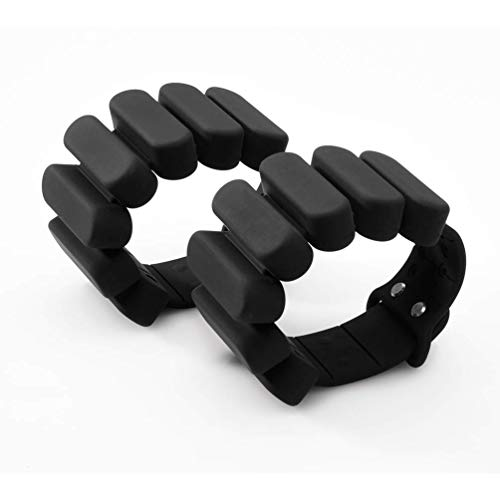 TOSAMC Durable Wrist Weights - Wearable Weight Bracelet Intensify Fitness, Exercise, Walking, Jogging, Gymnastics, Aerobics, Yoga, Gym; 2pics Set. (Black, 2.0LB)