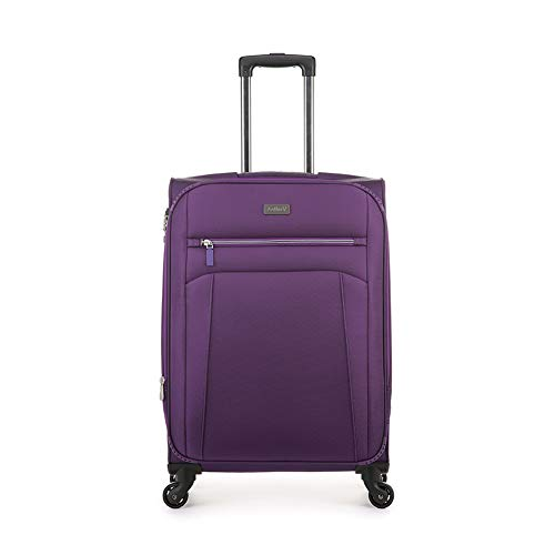 Antler Marcus Siro, Durable & Expandable Lightweight Soft Shell Suitcase - Colour: Purple, Size: Medium