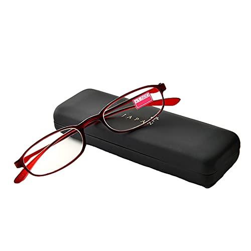 JJ Home Gafas de Lectura para Mujeres, Gafas de Lectura Anti-Luz Azul, Gafas de Lectura Graduadas Ultra Delgadas, Bisagras de Resorte +2,00