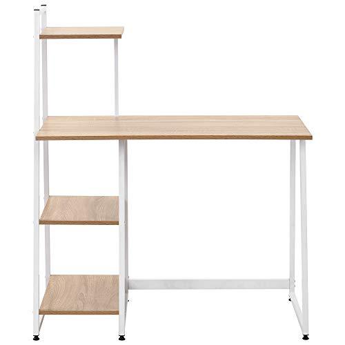 Escritorio en forma de L para computadora de oficina, escritorio de esquina, computadora portátil, estación de trabajo, escritorio para juegos, mesa de oficina y hogar, 128 x 120 x 76,5 cm, negro