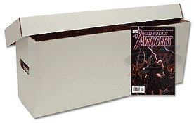 BCW Long Comic Book Storage Boxes (5 Boxes) - Corrugated Materials - Comic Book Collecting Supplies (Great for All Type of Comics)