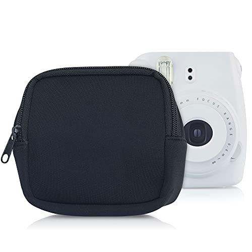 kwmobile Funda de Neopreno en Negro- Estuche para cámara de Fotos Compatible con Instax Mini 9 - con Cremallera