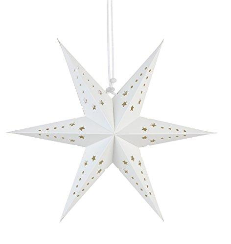 Sunbeauty Papieren ster kerstster feestdecoratie wit (zeshoek).