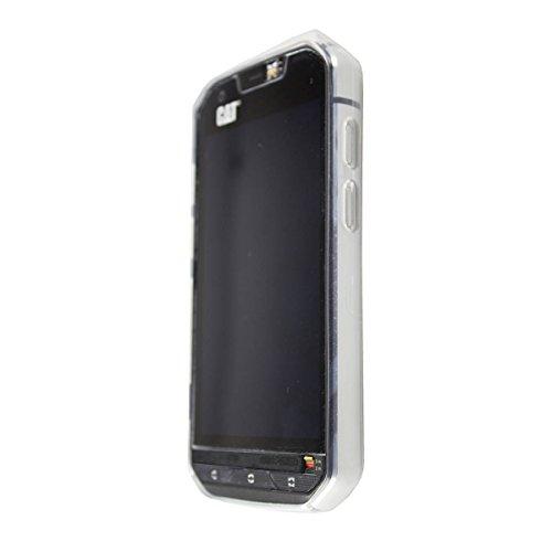 caseroxx TPU-Hülle für Cat S60, Tasche mit & ohne Bildschirmfolie (TPU-Hülle, weiß-transparent)