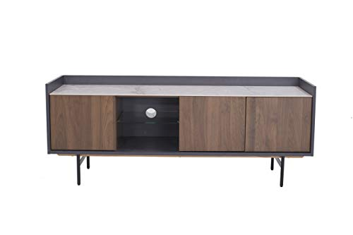 Amazon Marke - Rivet TV-Konsole, 150 x 45 x 58cm, Nussbaum/Grau