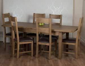 Clásico Moderno extensible mesa 6 Sillas Muebles de comedor,Oak