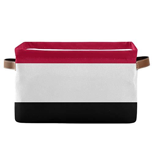 TripicalLife Wäschekorb mit Jemen-Flagge, Spielzeug-Aufbewahrung, faltbar, mit Handgriffen, Wäschesäcke, Aufbewahrungsbox, Kinderzimmerkorb für Spielzeug, Kleidung, Organisation, 1 Stück