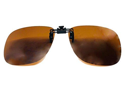 365 vision Clip para gafas POLARIZADAS universal - Unisex (Marron)