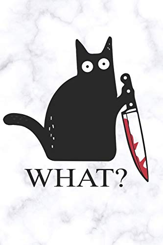 Cat What Funny Black Cat With Knife A beautiful: Lined Notebook / Journal Gift, 120 Pages, 6 x 9 inches , Personal Diary, Personalized Journal, ... work, or home!, Soft Cover, Matte Finish