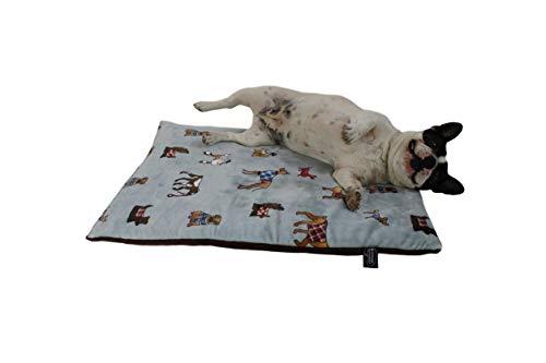 HS-Hundebett gepolsterte Hundedecke in 6 Größen I Qualität Made in Germany - waschbar bei 40° - trocknergeeignet I weiche Kuscheldecke für große & kleine Hunde (45 x 65 cm, Hunde Grau)