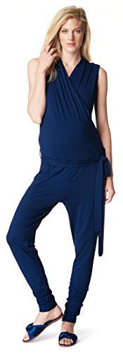 Noppies Jumpsuit SL Carinna Salopette Premaman, Blu (Midnight Blue C163), 38 (Taglia Produttore: X-Small) Donna