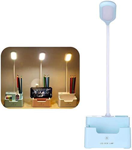 Led-leeslamp Slaapkamer Meisje Bureaulamp Oogbescherming Studentenstekker Opladen Nachtlampje Meisje Slaapzaal Nachtkastje met ventilator