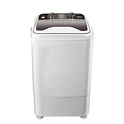 7KG Total Capacity Portable Washing Machine Single Tub Wash And Spin Dehydration Deep Cleaning Compact For Camping Dorms Apartments College Rooms,Black