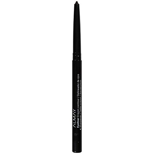 Almay Eyeliner Pencil, with Built in Sharpener and Vitamin E, Water Resistant and Long Wearing, Hypoallergenic, Cruelty Free, Oil Free, Fragrance Free, Ophthalmologist Tested, 205 Black, 0.01 oz