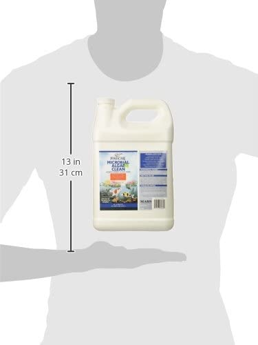 PONDCARE MICROBIAL ALGAE CLEAN Algae control, Controls green water algae in water gardens, Use twice a week for two weeks then once a week to maintain green water algae control