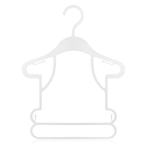 Hangerworld 15 Perchas 26cm para Niños Plástico Blanco Silueta Ideal para Conjuntos Tiendas de Ropa