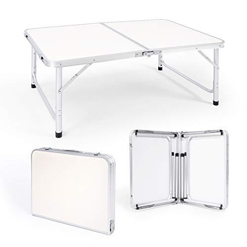 Robotime Klappbarer CampingTisch 4 FT 1,2 m Leichter, Verstellbarer Picknicktisch aus Aluminium für Innen- und Außenküche, Abendessen, Catering, Buffet und Garten (3FT/90X60CM)