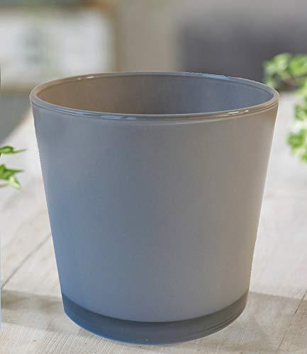 BALDUR-Garten GmbH Glas-Übertopf ø 17 cm grau,1 Stück