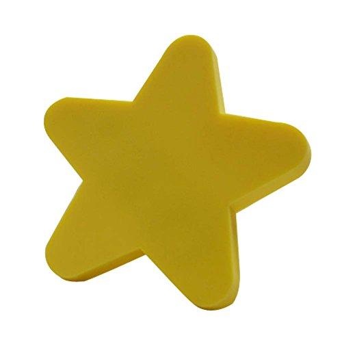 Lot de 2 poignées de tiroir pentagramme belle enfants Cartoon poignées de porte jaune