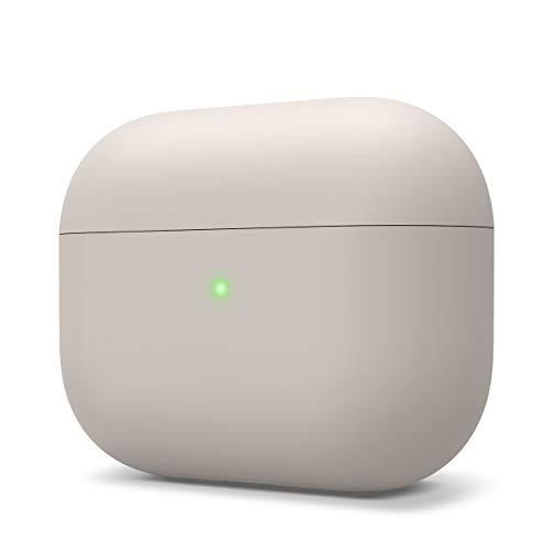 elago Liquid Hybrid Silikon Hülle entwickelt für Apple AirPods Pro Ladecase – Dreischichtige Struktur : Voller Schutz, LED Sichtbar, Hochwertiges Silikon Schutzhülle für AirPods Pro Case (Stein)