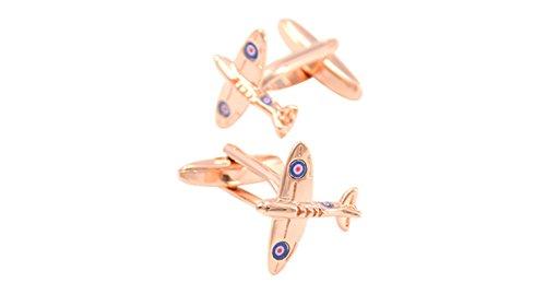 Bishiling Mode Edelstahl Herren Manschettenknöpfe Hochzeit Flugzeug Manschetten Knöpfen Hemd Rosegold