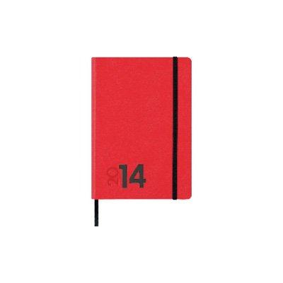 Manuel Cabero Mara - Agenda, formato 14 x 20.5 cm, día página, rojo, Unidades contenidas: 1