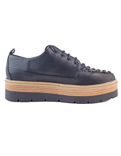 Pepe Jeans London Luton Amber, Zapatos de Cordones Derby Mujer, Negro (Black...