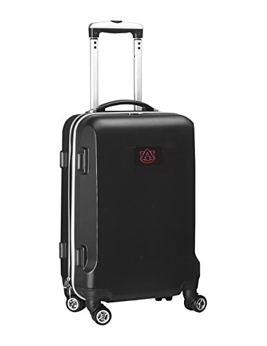 Review Denco NCAA Auburn Tigers Carry-On Hardcase Luggage Spinner, Black