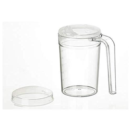 Homecraft Clear Mug, Shatterproof, Drinking Cup, For Eldery, Children or those with Weak Grip/Arthritis