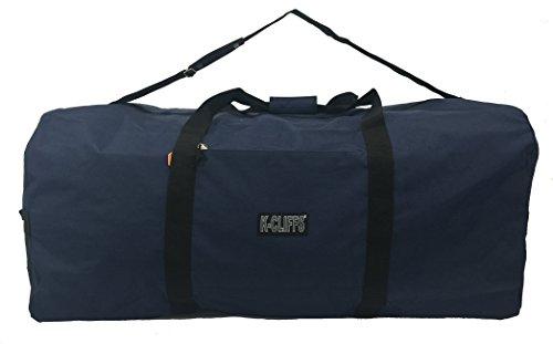 Heavy Duty Cargo Duffel Large Sport Gear Drum Set Equipment Hardware Travel Bag Rooftop Rack Bag (42  x 20  x 20 , Navy)