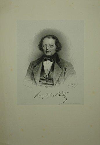 Portrait. Brustfigur en face. Lithographie auf aufgewalztem Chinapapier von A. Dauthage.