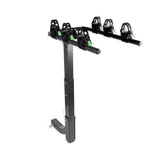 YYDE Fahrradständer, 3-Fahrradträger hängend Fahrradträger - Carrier Fahrradträger für das Auto - Doppelfaltschließe, Smart-Wipp-Entwurf