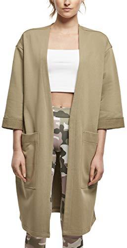 Urban Classics Ladies Oversized Terry Cardigan Suter crdigan, Caqui, XXXL para Mujer