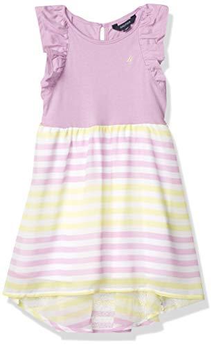 Nautica Girls' Sleeveless High Low Hem Dress, Chiffon Pale Purple, L12/14