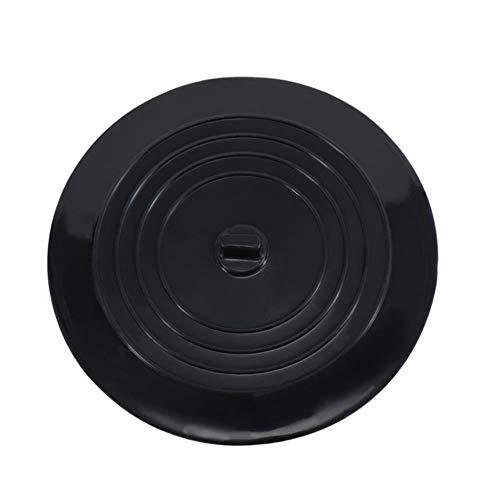 Gouen Universal Silikon Bodenablauf Auslaufdicht Stecker Küche Badewanne Waschbecken Gummi Wasserstopper Badarmatur Abflüsse, Schwarz
