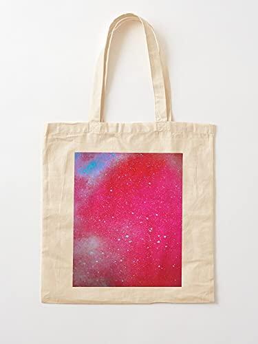 Générique - Aerosol de cosmos Rainbow Stars Trend Nebula Galaxy Trending | Bolsas de lona con asas, de algodón duradero