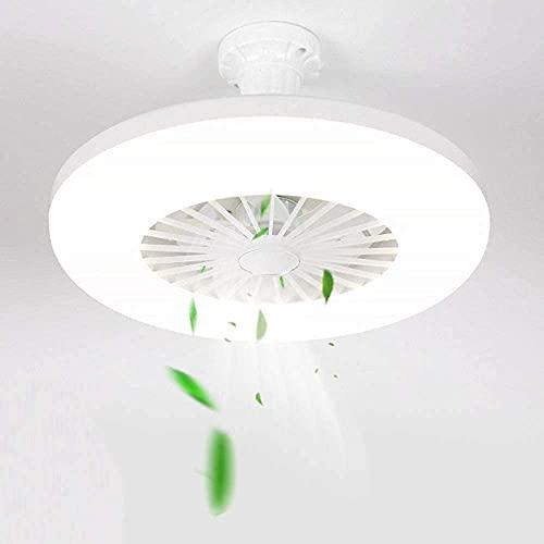 M-zen Ventilador De Techo Invisible Simplicidad Moderna con Luz Lámpara Techo De 36 W Candelabro Ventiladores De Techo Silenciosos...