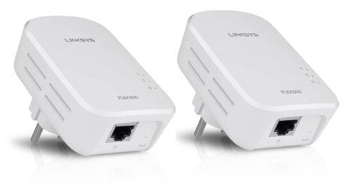 Linksys PLSK400 Powerline 200 4-Port Netzwerk-Erweiterungsset 1 Port/ 4 Ethernet Ports Plug & Play