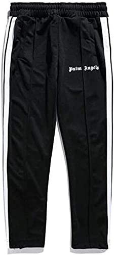 OEDO Jogger Hose Herren Damen Angels Palm Engels Sporthose, Fitness Slim Fit Hose Freizeithose Trainingshose Sweathose Joggers Streetwear (M,Black)