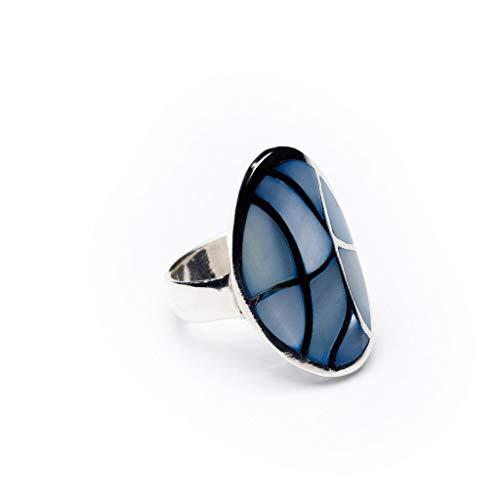 Love your diamonds mujer espacios de nácar de plata anillo, tamaño 57
