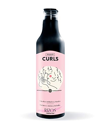 muum - Acondicionador Curls Rizos Perfectos. Cabellos ondulados y rizados. Fortalece, revitaliza y da brillo - 500 ml.