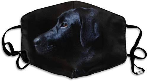 Mundmaske,schwarzer Labrador Hund Anti-Staub-Mund,waschbare Wiederverwendbare Holiday Half Face Masken mit verstellbarem Ohrbügel