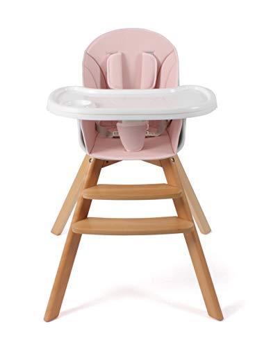 CHIC 4 BABY 332 81 Hochstuhl FIETE, Kinderhochstuhl aus Holz, rosa, 6.1 kg