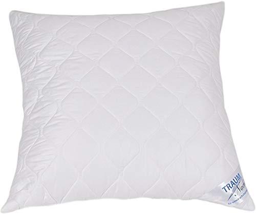 Traumnacht 4-Star Kopfkissen, weiches und bequemes aus Baumwollmischgewebe, 80 x 80 cm, waschbar, weiß