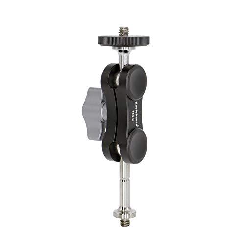 "Koolehaoda Montaje de montaje de brazo mágico con tornillos dobles de 1/4 "", soporte adaptador de monitor de brazo mágico para monitor, micrófono, luz de video LED, linterna (Magic Arm TM-2)"