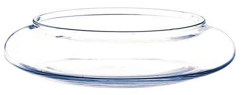 INNA-Glas Coupe décorative en Verre Chico, Transparent, 6cm, Ø 26cm - Centre de Table en Verre - Coupelle Ronde